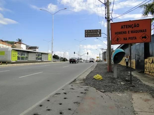 Avenida Pedro I ainda não foi concluída (Foto: Raquel Freitas/G1)