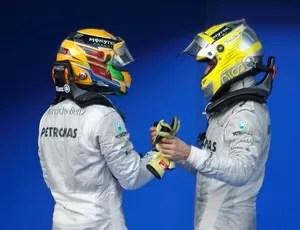 nico rosberg e Lewis Hamilton Mercedes gp da malásia (Foto: Agência Reuters)