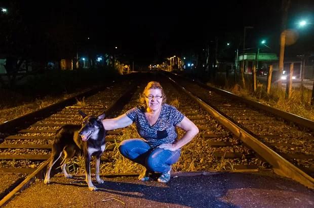 Boney na linha do trem (Foto: Reprodução/TV Vanguarda)