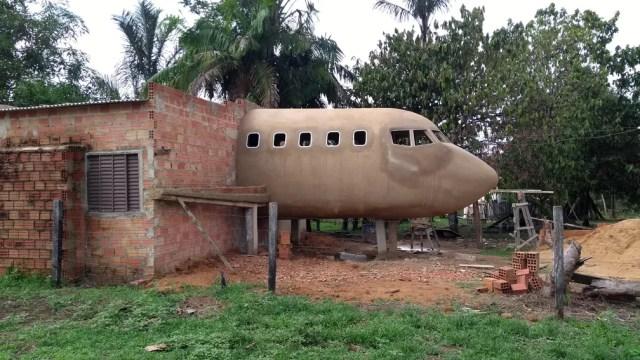 Sonho de técnico  em eletronica é construir um avião inteiro para fazer um filme  (Foto: Jheniffer Núbia /G1)