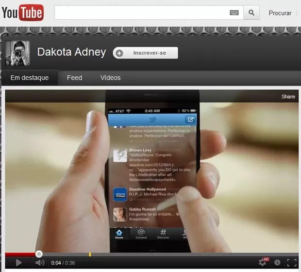 Jovem cria propaganda que mostra uma versão futurista do iPhone 5, da Apple, que tem tela transparente (Foto: Reprodução)