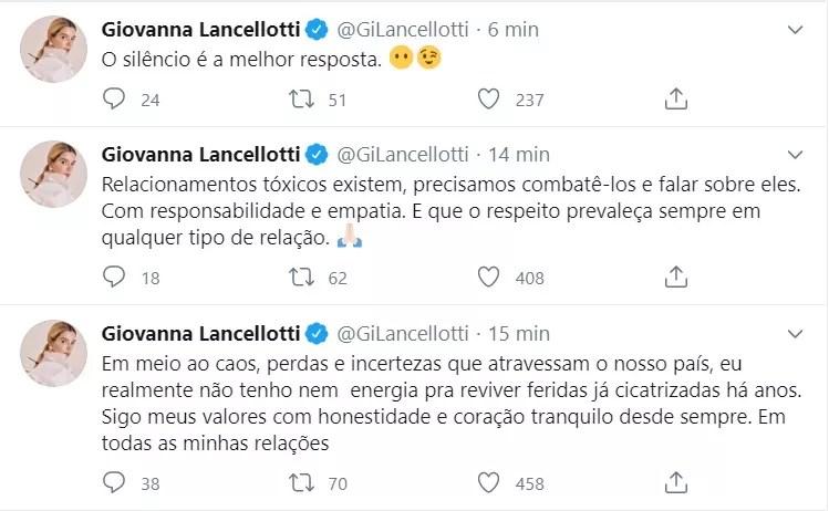 Giovanna Lancellotti (Foto: reprodução/twitter)