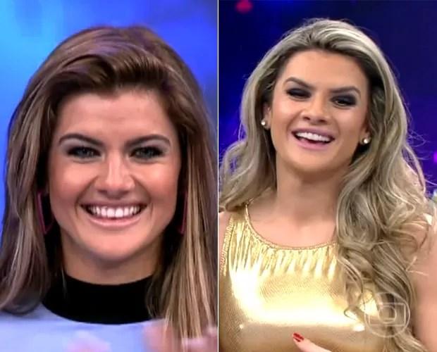 Mirella se diverte revendo seus tempos de bailarina do Faustão (Foto: TV Globo)