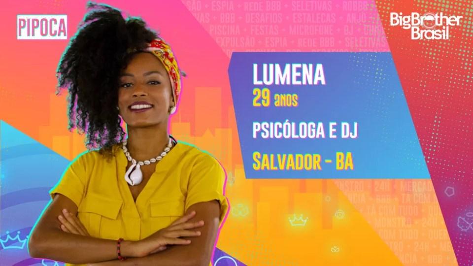 Lumena, BBB21 — Foto: Globo