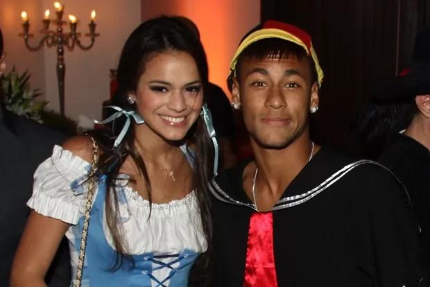 Bruna Marquezine e Neymar no aniversário de Thiaguinho em São Paulo (Foto: Manuela Scarpa/ Foto Rio News)