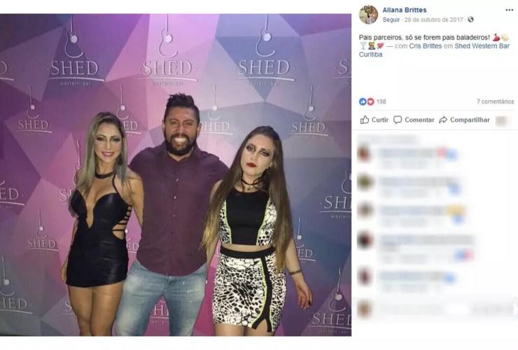 Família Brittes está presa — Foto: Reprodução/Facebook
