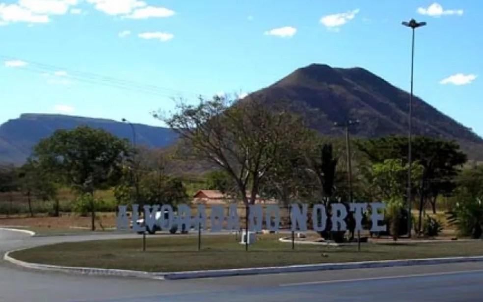 Entrada da cidade de Alvorada do Norte, em Goiás — Foto: Reprodução/Prefeitura de Alvorada do Norte