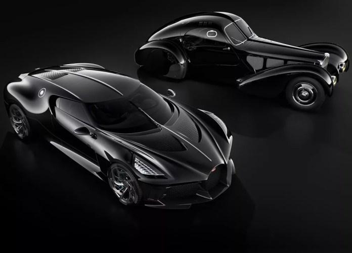 Bugatti La Voiture Noire e Type 57 SC Atlantic — Foto: Divulgação/Bugatti