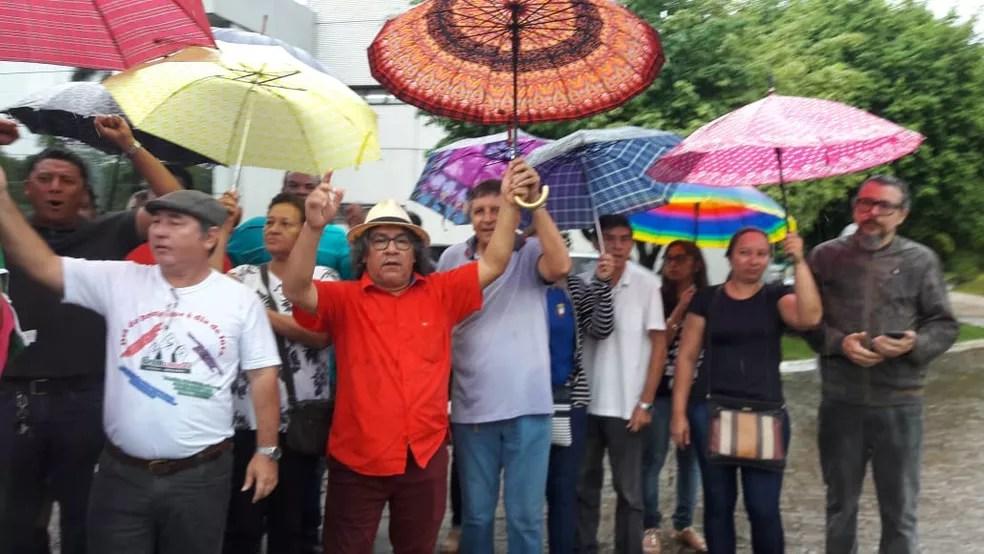Asprom Sindical protesta por reajuste salarial de professores do Amazonas — Foto: Divulgação/Asprom Sindical