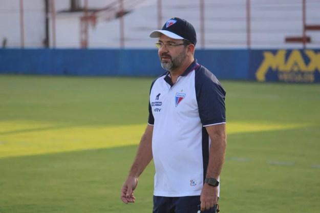 Enderson Moreira, foi demitido do Fortaleza no fim de abril — Foto: Bruno Oliveira/Fortaleza EC