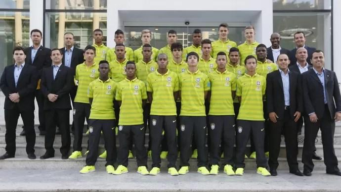 Seleção sub-17 convocada para a Copa México das Nações (Foto: Divulgação/CBF)