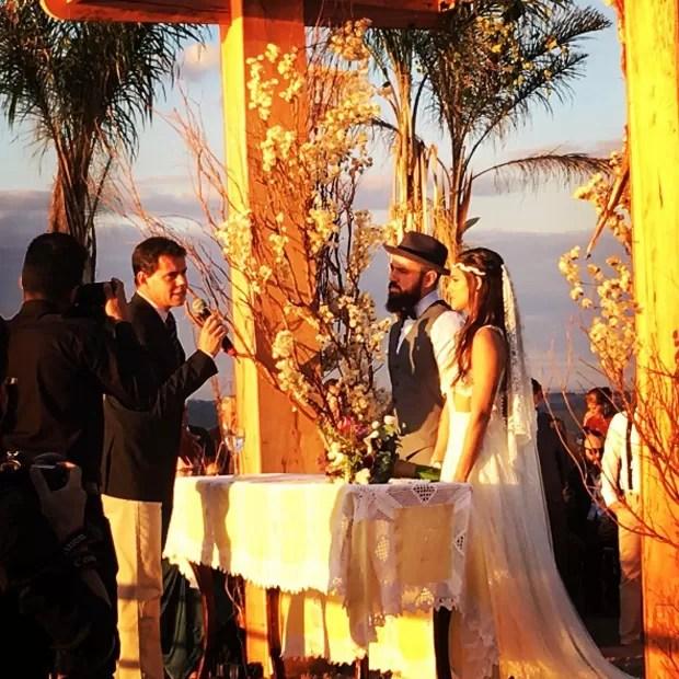 Mateus e Marcella se casam em Goiânia (Foto: Reprodução)