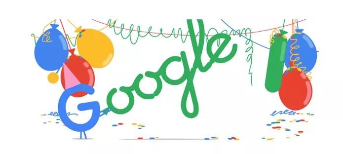 Aniversário 18 anos Google