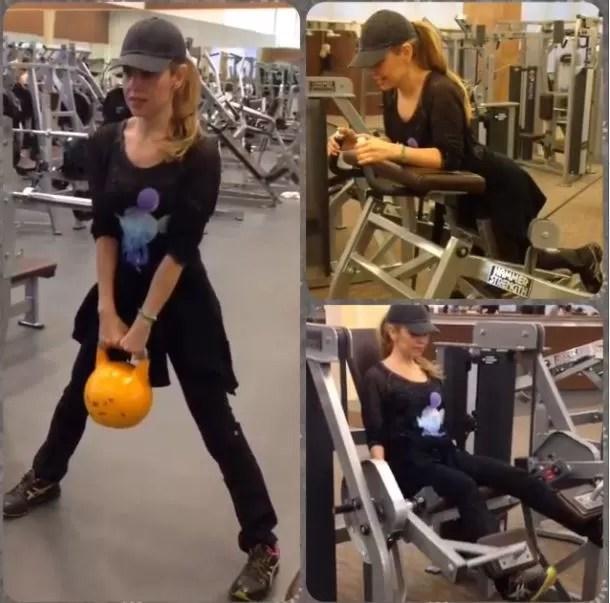 Thalia posta vídeo malhando (Foto: Instagram / Reprodução)