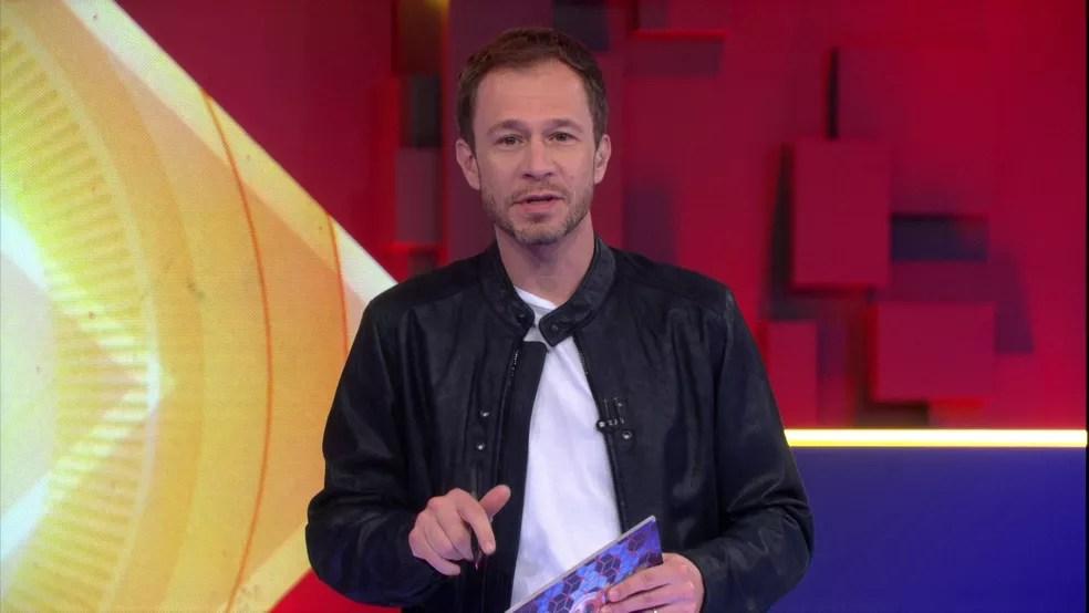 Tiago Leifert no programa de sexta-feira, 3/4 — Foto: Globo