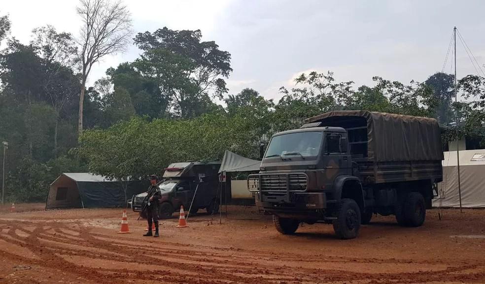 Base do Exército na reserva Jacundá, em Porto Velho — Foto: EB/Divulgação