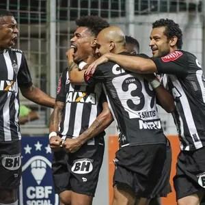 Jogadores do Atlético-MG comemoram gol (Foto: Bruno Cantini/Atlético-MG)