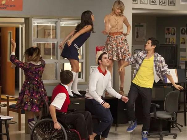 E a presença de Blaine no NOvas Direções faz Finn se sentir ameaçado (Foto: Divulgação / Twentieth Century Fox)