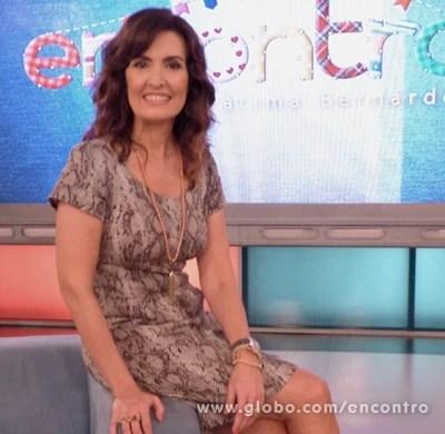 Fátima Bernardes (Foto: Encontro com Fátima Bernardes/TV Globo)