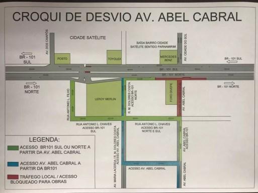 Croqui mostra intervenção na Avenida Abel Cabral (Foto: Divulgação)