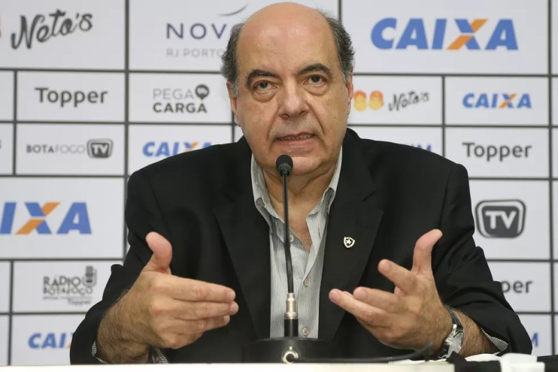 Último ano de Mufarrej é de decepção esportiva e financeira — Foto: Vitor Silva/Botafogo