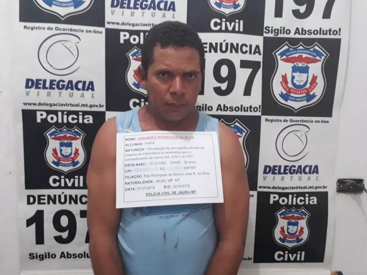 Ernandes Rodrigues, de 36 anos, foi preso na segunda-feira (7) — Foto: Polícia Civil/Divulgação