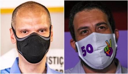 Montagem com fotos de Bruno Covas (PSDB) e Guilherme Boulos (PSOL), que disputam o segundo turno das eleições em São Paulo — Foto: Ronaldo Silva e AntonioMolina/Estadão Conteúdo