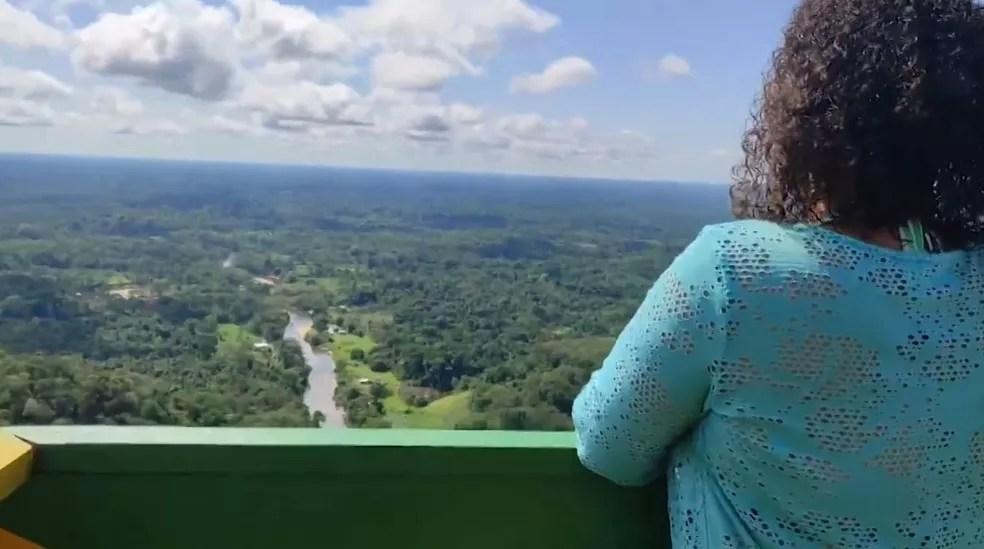 Mirante da Serra do Divisor é um local que pode ser usado para que os turistas contemplem a natureza — Foto: Rede Amazônica Acre