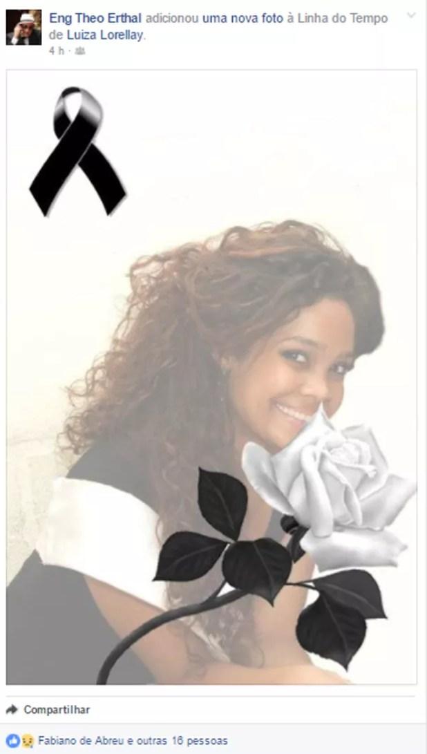 Amigos lamentam morte de Luiza Lorellay na web (Foto: Reprodução/Facebook)