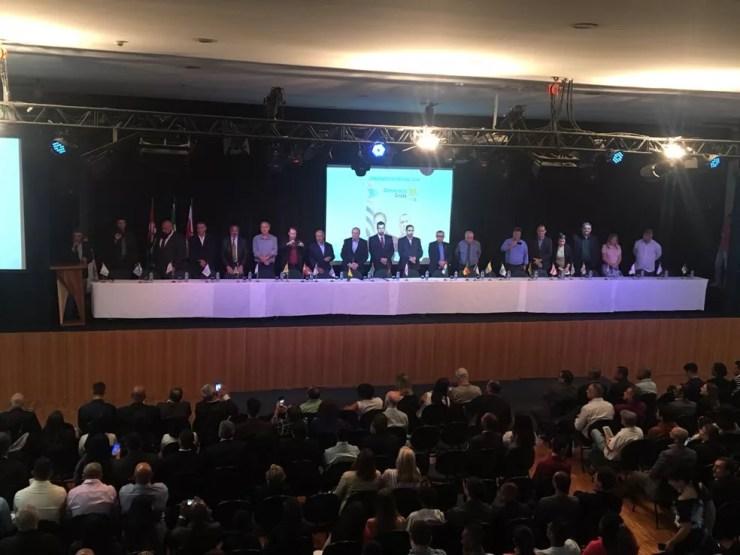 Convenção do DC oficializa Eymael como candidato (Foto: Gabriela Gonçalves/G1)