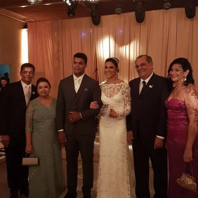 Joanna Maranhão e Luciano Corrêa no casamento de ambos no Recife (Foto: Reprodução/Instagram)