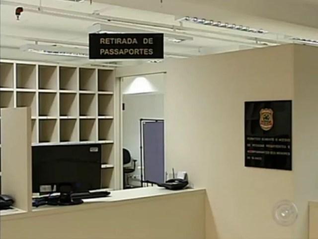 Posto inaugurada em 2012 tinha capacidade para emitir até 100 passaportes por dia (Foto: Reprodução/TV TEM)