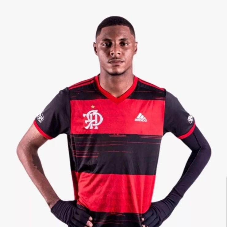 Jhonata Ventura, zagueiro do Flamengo sub-17 — Foto: Reprodução Instagram