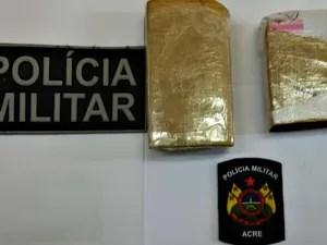 800 gramas de maconha apreendidos em Feijó (Foto: Divulgação/Polícia Militar)