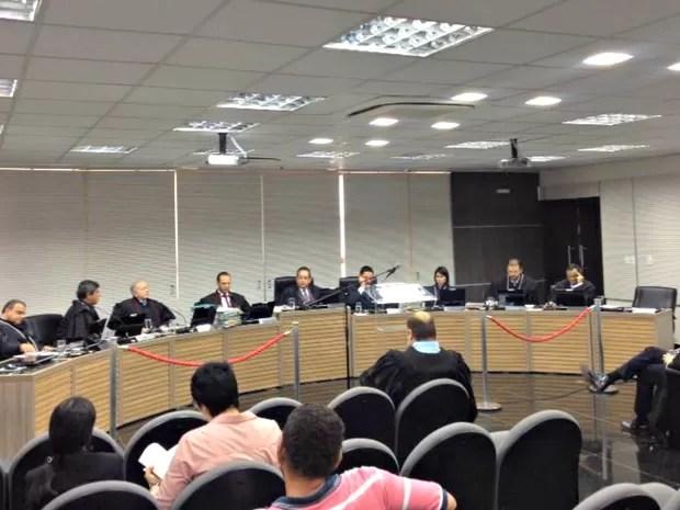 Julgamento de ação contra Melo teve início na tarde desta terça (Foto: Indiara Bessa/G1 AM)