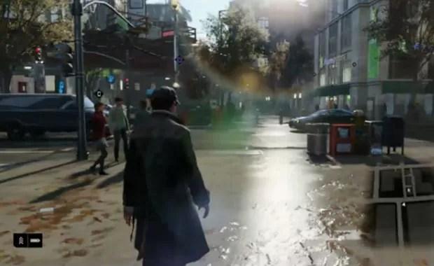 Novo game 'Watch Dogs' é demonstrado ao vivo durante o lançamento do PS4. (Foto: Reprodução)
