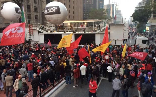 Protesto na Avenida Paulista (Foto: Glauco Araújo/G1)