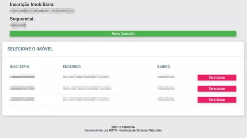 Confira endereço do imóvel e verifique dívidas de IPTU no site da Secretaria de Finanças ou Fazenda do município — Foto: Reprodução/Paulo Alves