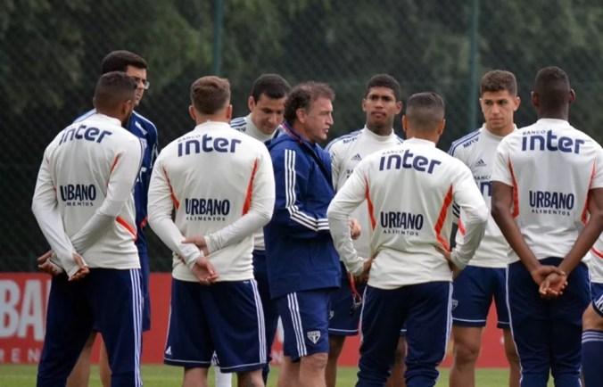 Cuca terá voltas de jogadores lesionados do São Paulo contra o CSA — Foto: Érico Leonan/saopaulofc.net