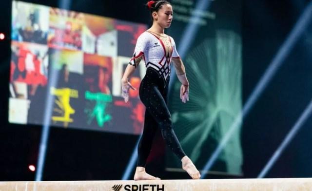 Kim Bui também competiu com um traje completo em Basel — Foto: Getty Images via BBC