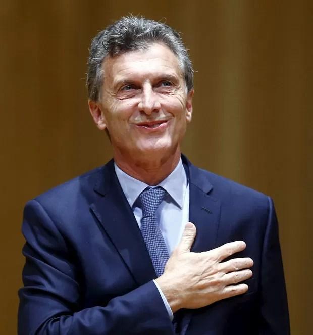 Novo presidente da Argentina, Mauricio Macri, presta juramento nesta quinta-feira (10) (Foto: Enrique Marcarian/Reuters)