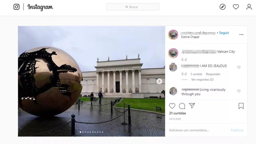 A Capela Sistina abriga algumas das principais obras da Renascença — Foto: Reprodução/Instagram