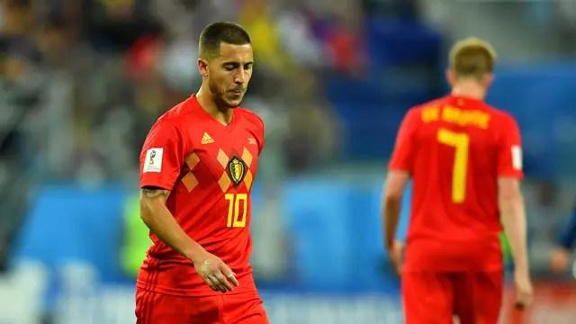 Hazard e De Bruyne em França x Bélgica