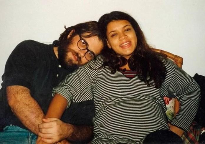 Preta Gil e Otávio Müller quando a cantora esperava o filho do casal — Foto: Reprodução/Instagram