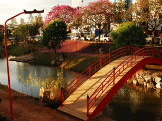 O parque Kasatu Maru remate a cultura japonesa (Foto: Divulgação/Prefeitura de Sorocaba)