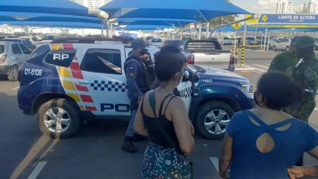 Polícia Militar esteve no local para dar apoio à ocorrência — Foto: Polícia Militar