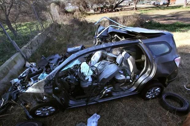 O acidente matou a mulher do sobrinho do Papa Francisco e dois de seus filhos (Foto: Agencia Cordoba/AFP)