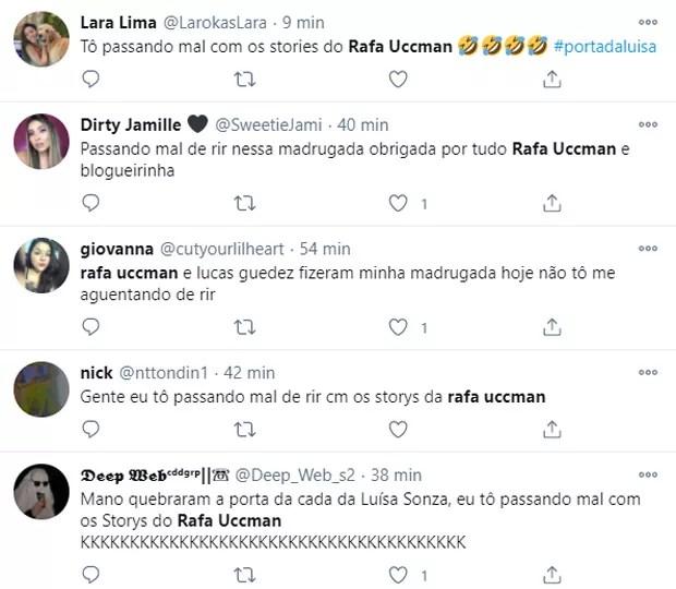Amigos de Luísa Sonza derrubam porta na casa da cantora e viralizam na web (Foto: Reprodução/Twitter)