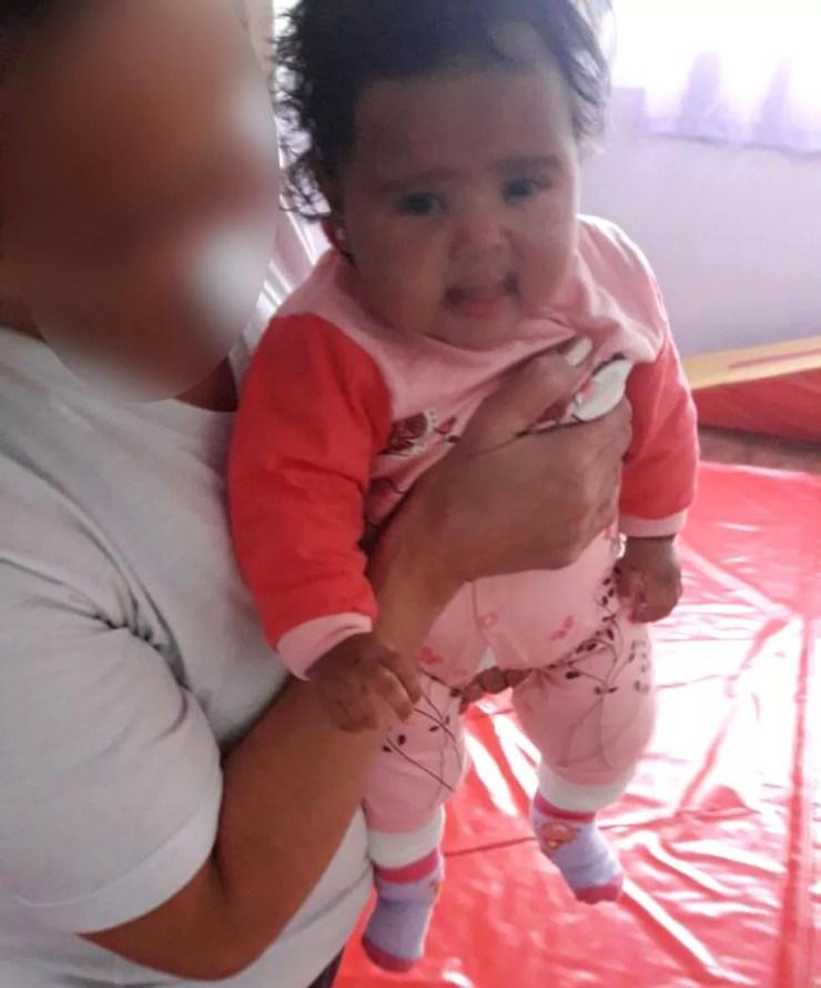 Foto enviada pela escola à mãe da bebê; criança morreu em creche de Campinas (Foto: Devair Maciel / Arquivo pessoal)