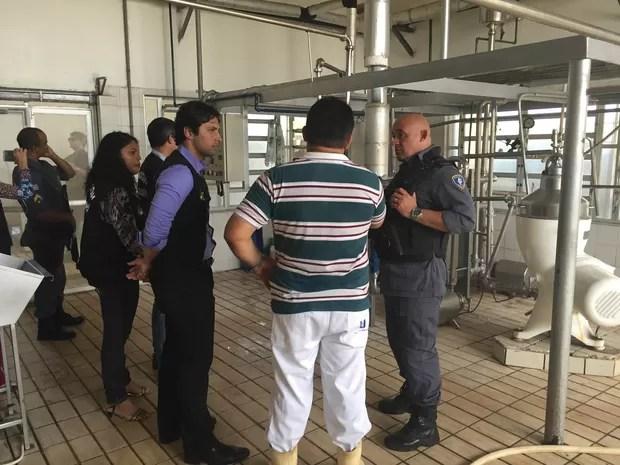 indústria de laticínios continuava produzindo e comercializando, mesmo tendo sido interditada em 2014 (Foto: Divulgação / Procon)